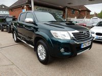 USED 2013 62 TOYOTA HI-LUX 3.0 INVINCIBLE 4X4 D-4D DCB 1d AUTO 169 BHP SAT NAV,TWO KEYS,LEATHER,AIR CON,REAR CAMERA