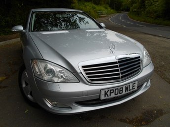 2008 MERCEDES-BENZ S CLASS 3.0 S320 CDI 4d AUTO 231 BHP ** DIESEL, 7 SPEED AUTOMATIC, FULLY LOADED , YES ONLY 67K WITH 10 SERVICE STAMPS, UNBELIEVABLE VEHICLE, YES ONLY £8495 ** £8495.00