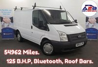 USED 2014 63 FORD TRANSIT 2.2 TDCi T280 125 BHP LOW MILEAGE 54962 Miles, Bluetooth, Electric Pack, Roof Bars and more... **Drive Away Today** Over The Phone Low Rate Finance Available, Just Call us on 01709 866668**