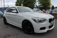 USED 2013 63 BMW 1 SERIES 1.6 116I M SPORT 3d 135 BHP FULL LEATHER INTERIOR - RARE SPEC INCLUDING HEATED FRONT SEATS - BLUETOOTH HANDS FREE - iDRIVE