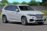 USED 2014 14 BMW X5 3.0 XDRIVE40D M SPORT 5d AUTO 309 BHP Pearl White with Mocha Leather