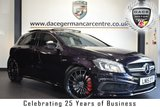 """USED 2015 15 MERCEDES-BENZ A CLASS 2.0 A45 AMG 4MATIC 5DR  AUTO 360 BHP full service history FINISHED IN STUNNING NORTHERN LIGHTS METALLIC VIOLET WITH FULL BLACK LEATHER INTERIOR + FULL SERVICE HISTORY + COMAND SATELLITE NAVIGATION + PANORAMIC SLIDING SUNROOF + BLUETOOTH + BI-XENON HEADLAMPS + DAB RADIO + AMG STYLING PACKAGE-FRONT SPOILER, SIDE SKIRT + HEATED AMG PERFORMANCE SEATS + MEMORY PACKAGE + AMG EXCLUSIVE PACKAGE + DIRECT START / ECO START/STOP FUNCTION + AUTOMATIC CLIMATE CONTROL + ATTENTION ASSIST + ACTIVE PARK ASSIST + 19"""" ALLOY WHEELS"""