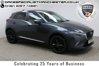 """USED 2015 15 MAZDA CX-3 2.0 SPORT NAV 5d 118 BHP Finished in stunning Gun Metal Grey Metallic with Beige Half Leather, 18"""" Alloy Wheels, Reversing Camera, Privacy Glass, Parking Sensors and Mazda Service History.Sat Nav, Head up Display, Bluetooth, Air Con, Climate Control, Multi Function Wheel, Cruise Control"""