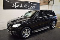 USED 2012 62 MERCEDES-BENZ M CLASS 2.1 ML250 BLUETEC SPORT 5d AUTO 204 BHP RARE 2.1 250CDI - LOW TAX - 50 MPG - HALF LEATHER - NAV - HEATED SEATS - PRIVACY GLASS - SIDE STEPS