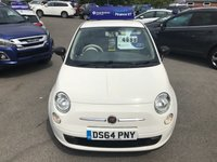 USED 2014 64 FIAT 500 1.2 POP 3 DOOR 69 BHP IN WHITE WITH 45000 MILES IN IMMACULATE CONDITION APPROVED CARS ARE PLEASED TO OFFER THIS FIAT 500 1.2 POP 3 DOOR 69 BHP IN WHITE WITH 45000 MILES IN IMMACULATE CONDITION INSIDE AND OUT WITH A FULL SERVICE HISTORY SERVICED AT 9K,18K,25K AND 42K A GREAT LITTLE FIRST TIME CAR OR YOUNG DRIVERS CAR AT A VERY SENSIBLE PRICE.