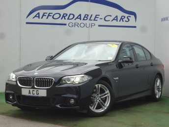 2015 BMW 5 SERIES 2.0 520D M SPORT 4d AUTO 188 BHP £17250.00