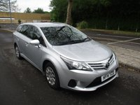 USED 2014 14 TOYOTA AVENSIS 2.0 D-4D ACTIVE 5d 124 BHP WAS £8,495 NOW ONLY £7,995 !!