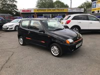1999 FIAT SEICENTO 1.1 SPORTING 3d 54 BHP IN BLACK WITH A VERY LONG MOT IN GOOD CONDITION AND ONLY 73000 MILES. £900.00