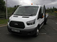USED 2017 67 FORD TRANSIT 2.0 350 L3 H2 P/V DRW 1d 129 BHP Double Cab Tipper Air Con, 57000 miles, Service History, 1 Owner from New
