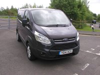 USED 2014 14 FORD TRANSIT CUSTOM 2.2 330 LIMITED LR P/V 1d 124 BHP Van - NO VAT 67000 miles, Air Con, Ply Lined