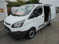 2015 FORD TRANSIT CUSTOM 2.2 TDCI 270 ECO-TECH L1H1 SHORT WHEEL BASE LO ROOF FULL PRINT OUT SERVICE HISTORY (( PREMIER VAN SALES STOCKPORT SK3 - ODT ))) £7995.00