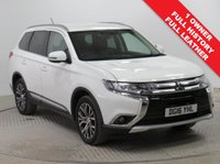 USED 2016 16 MITSUBISHI OUTLANDER 2.3 DI-D GX 3 5d 147 BHP 4WD FULL LEATHER 7 SEATS Stunning Mitsubishi Outlander having had just 1 previous owner represents hassle free motoring as comes with Full Service History, an MOT until 12th May 2020 and the balance of Mitsubishi Warranty to March 2021. In addition this car has a great specification coming with Full Leather, Parking Sensors, Privacy Glass, Bluetooth, Air Con, Cruise Control, Leather Multi-Functional Steering Wheel, Alloy Wheels & Keyless Entry. Nationwide Delivery Available. Finance Available at 9.9% APR Representative.