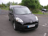 USED 2014 14 PEUGEOT PARTNER 1.6 HDI PROFESSIONAL L1 850 VAN - NO VAT 3 seater in Black, Air Con, Only 35000 miles, Service History