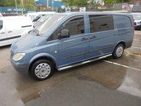 2005 MERCEDES-BENZ VITO 2.1 115 CDI LONG WHEEL BASE AUTOMATIC  150 BHP SIX SEAT CREW VAN  MOT SEPTEMBER LOADS HISTORY DRIVES A1  !!! NO VAT !!! £3850.00