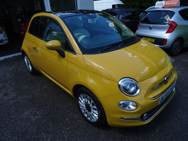 2015 65 FIAT 500 1.2 LOUNGE DUALOGIC 3d AUTOMATIC 69 BHP NEW SHAPE