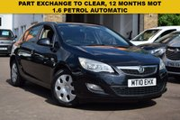 USED 2010 10 VAUXHALL ASTRA 1.6 EXCLUSIV 5d 113 BHP WITH 12 MONTHS MOT. 1.6 PETROL AUTOMATIC.