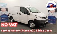 2011 NISSAN NV200 1.5 SE DCI 85 BHP in White with ** NO VAT TO PAY ** Service History, 2 Sliding Doors £3970.00