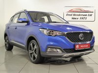 USED 2019 19 MG MG ZS 1.5 EXCLUSIVE 5d 105 BHP 19 plate MGZS manual in Laser Blue metallic 14 miles, bluetooth, sat nav, reversing camera, leather seats, cruise control, 7 year warranty, great finance deals