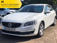 USED 2016 66 VOLVO S60 2.0 D2 BUSINESS EDITION 4dr 118 BHP Volvo warranty, Full Volvo service history.