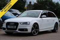 USED 2013 13 AUDI A4 2.0 AVANT TDI BLACK EDITION 5d 174 BHP MOT MAY 2020, FULL SERVICE HISTORY - JUST SERVICED
