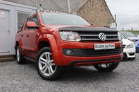 USED 2014 14 VOLKSWAGEN AMAROK Canyon 4 Motion Double Cab 2.0 BiTDI ( 180 bhp ) Limited Edition Canyon Rare No VAT Stunning Colour Top Spec Roof Light Bar Rock n Roll Cover