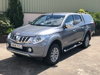 USED 2016 16 MITSUBISHI L200 2.4 DI-D 4X4 WARRIOR DCB 1d 178 BHP LEATHER, CANOPY, REVERSE CAMERA, HEATED SEATS