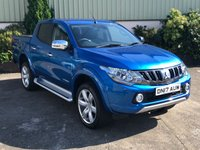 USED 2017 17 MITSUBISHI L200 2.4 DI-D 4WD WARRIOR DCB 1d 178 BHP 20' ALLOYS OPTIONAL-LOW MILES