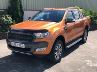 USED 2018 67 FORD RANGER 3.2 WILDTRAK 4X4 DCB TDCI 1d AUTO 197 BHP REVERSE CAMERA, SAT NAV, ELECTRIC HEATED SEATS, LINER