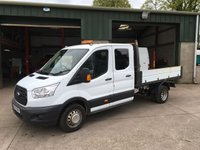USED 2015 15 FORD TRANSIT 2.2 350 Trend double cab tipper 153 BHP
