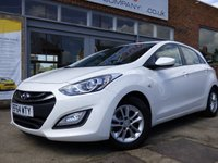 USED 2014 64 HYUNDAI I30 1.6 ACTIVE BLUE DRIVE CRDI 5d 109 BHP FREE ROAD TAX & GREAT VALUE FAMILY CAR WITH LOW RUNNING COSTS