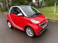 USED 2012 62 SMART FORTWO 1.0 PASSION MHD 2d AUTO 71 BHP GREAT SPEC LOW MILES SAT NAV PANORAMIC SUNROOF FREE TAX