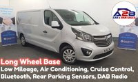 2016 VAUXHALL VIVARO 1.6 CDTI 2900 SPORTIVE 115 BHP Long Wheel Base with Air Con, Bluetooth Connectivity, Cruise Control, Manufacturer Warranty until Dec 19 and more £11480.00