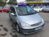 USED 2006 06 FORD GALAXY 1.9 SILVER TDI 5d 115 BHP IN METALLIC SILVER WITH 129,000 MILES (TRADE CLEARANCE) APPROVED CARS AND FINANCE ARE PLEASED TO OFFER THIS FORD GALAXY 1.9 SILVER TDI 5 DOOR 115 BHP IN METALLIC SILVER WITH 129,000 MILES AND WILL LEAVE THE BUILDING WITH A NEW MOT. THIS VEHICLE HAS A GOOD SPEC SUCH AS RADIO, ELECTRIC WINDOWS, ELECTRIC MIRRORS, ABS, ALLOY WHEELS AND MUCH MORE. THIS IS A VERY GOOD CAR WITH A NEW MOT, AND LOTS OF BILL AND RECEIPTS WITH THE CAR, BUT DUE TO THE AGE AND MILEAGE OF THE VEHICLE THIS IS BEING OFFERED AS A TRADE CLEARANCE CAR.