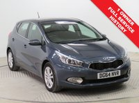 USED 2014 64 KIA CEED 1.6 CRDI 2 5d AUTO 126 BHP Stunning KIA Ceed 2 AUTO having had just 1 previous owner and comes with Full KIA Service History. In addition the car comes in metallic Planet Blue and has an array of equipment including Parking Sensors, Bluetooth, Cruise Control, Leather Multi-Functional Steering Wheel, Air Conditioning, Radio/CD, USB/AUX, Alloy Wheels and 2 Keys. Nationwide Delivery Available. Finance Available at 9.9% APR representative.