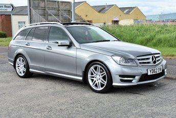 2012 MERCEDES-BENZ C CLASS 2.1 C220 CDI BLUEEFFICIENCY AMG SPORT PLUS 5d AUTO  £10990.00