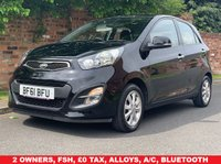 USED 2011 61 KIA PICANTO 1.2 2 ECODYNAMICS 5d 84 BHP 2 OWNERS, FULL SERVICE HISTORY, MOT APR 20, ALLOYS, AIR CON, BLUETOOTH, E/WINDOWS, R/LOCKING, FREE  WARRANTY, FINANCE AVAILABLE, HPI CLEAR, PART EXCHANGE WELCOME,