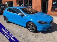 """USED 2015 65 VOLVO V40 2.0 D2 R-DESIGN LUX 5DOOR 118 BHP DAB Radio    :    USB Socket    :    Cruise Control / Speed Limiter    :    Bluetooth Connectivity    Climate Control / Air Conditioning   :   R-Design Steering Wheel   :   Heated Front Seats      Full Black Leather Upholstery : 17"""" Alloy Wheels : Full Volvo Service History"""