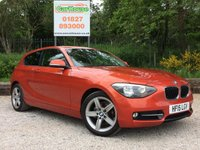 USED 2015 15 BMW 1 SERIES 2.0 116D SPORT 3dr PDC, £30 Tax, Cruise