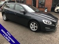 """USED 2016 16 VOLVO V60 2.0 D3 BUSINESS EDITION 5DOOR 148 BHP DAB : Sat Nav : USB & AUX : Auto Headlights : Car WiFi : Cruise Control / Speed Limiter  Bluetooth  :  Climate Control / Air Conditioning  :  Rear Parking Sensors  :  16"""" Alloy Wheels  Full Service History    :     Only £20 Road Tax"""