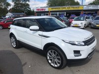 2012 LAND ROVER RANGE ROVER EVOQUE 2.2 TD4 PURE 5d 150 BHP IN METALLIC WHITE WITH A FULL SERVICE HISTORY WITH 93000 MILES £13999.00