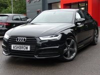 USED 2015 65 AUDI A6 SALOON 2.0 TDI ULTRA BLACK EDITION 4d AUTO 190 S/S UPGRADE HEATED SEATS, UPGRADE ELECTRIC FOLDING HEATED DOOR MIRRORS, SAT NAV, FULL BLACK LEATHER, BOSE, 20 INCH ROTOR ALLOYS, DAB RADIO, BLUETOOTH PHONE & MUSIC STREAMING, AUDI MUSIC INTERFACE FOR IPOD / USB DEVICES (AMI), FRONT & REAR PARKING SENSORS WITH DISPLAY, LED HEADLIGHTS,  PRIVACY GLASS, CRUISE CONTROL, SPORT SEATS WITH ELECTRIC LUMBAR SUPPORT, LIGHT & RAIN SENSORS WITH AUTO DIMMING REAR VIEW , AUTO HOLD, LEATHER MULTIFUNCTION TIPTRONIC STEERING WHEEL, 1 OWNER, FULL HISTORY, £30 ROAD TAX