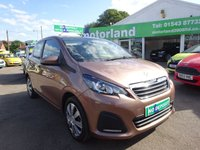 USED 2014 64 PEUGEOT 108 1.0 ACTIVE 5d 68 BHP ** 01543 877320 ** JUST ARRIVED **