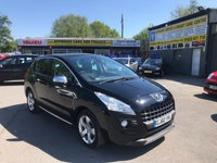 2010 PEUGEOT 3008 1.6 EXCLUSIVE HDI 5 DOOR 110 BHP IN BLACK 80K MILES FULL SEVICE HISTORY ONE OWNER GREAT CONDITION. £3999.00