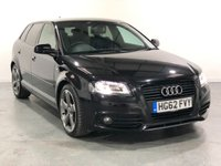 USED 2012 62 AUDI A3 2.0 SPORTBACK TDI S LINE SE 5d 168 BHP TOP SPEC AND VERY ECONOMICAL MOTOR