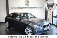 """USED 2016 16 BMW 3 SERIES 2.0 320I M SPORT 4DR AUTO 181 BHP full bmw service history *NO ADMIN FEES* FINISHED IN STUNNING MINERAL METALLIC GREY WITH FULL BLACK LEATHER INTERIOR + FULL BMW SERVICE HISTORY + SATELLITE NAVIGATION + BLUETOOTH + DAB RADIO + LED HEADLIGHTS + CRUISE CONTROL + LIGHT PACKAGE + RAIN SENSORS + PARKING SENSORS + 18"""" ALLOY WHEELS"""
