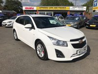 2013 CHEVROLET CRUZE 1.8 LT 5d AUTO 139 BHP IN METALLIC WHITE WITH A FULL SERVICE HISTORY AND 92,100 MILES! £3799.00