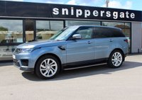 """USED 2018 18 LAND ROVER RANGE ROVER SPORT 3.0 SDV6 HSE 5d AUTO 306 BHP Fantastic looking new shape Range Rover Sport in Byron Blue Metallic, Full Land Rover service history, Towbar, Pan Roof, Heated Seats, Bluetooth, 21"""" Alloys."""