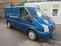 2007 FORD TRANSIT LX 2.2 TDCI 260 SHORT WHEEL BASE LO ROOF FULL SERVICE HISTORY, ELECTRIC PACK, METALLIC BLUE, ((( NO VAT TO PAY )))   £4000.00