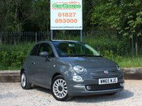 USED 2015 65 FIAT 500 1.2 LOUNGE 3dr £20 Tax, Pan Roof, Park Sens
