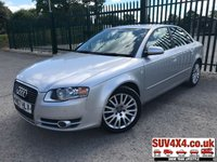 USED 2007 07 AUDI A4 2.7 TDI S LINE 4d 177 BHP ALLOYS SATNAV CRUISE BLUETOOTH MOT 08/19 SATELLITE NAVIGATION. SILVER MET WITH FULL BLACK LEATHER TRIM. HEATED SEATS. CRUISE CONTROL. 17 INCH ALLOYS. COLOUR CODED TRIMS. PARKING SENSORS. BLUETOOTH PREP. CLIMATE CONTROL WITH AIR CON. TRIP COMPUTER. R/CD PLAYER. 6 SPEED MANUAL. MFSW. TOW BAR. MOT 08/19. SERVICE HISTORY. AGE/MILEAGE RELATED SALE. PART EXCHANGE CLEARANCE CENTRE LS23 7FQ. TEL 01937 849492. OPTION 4